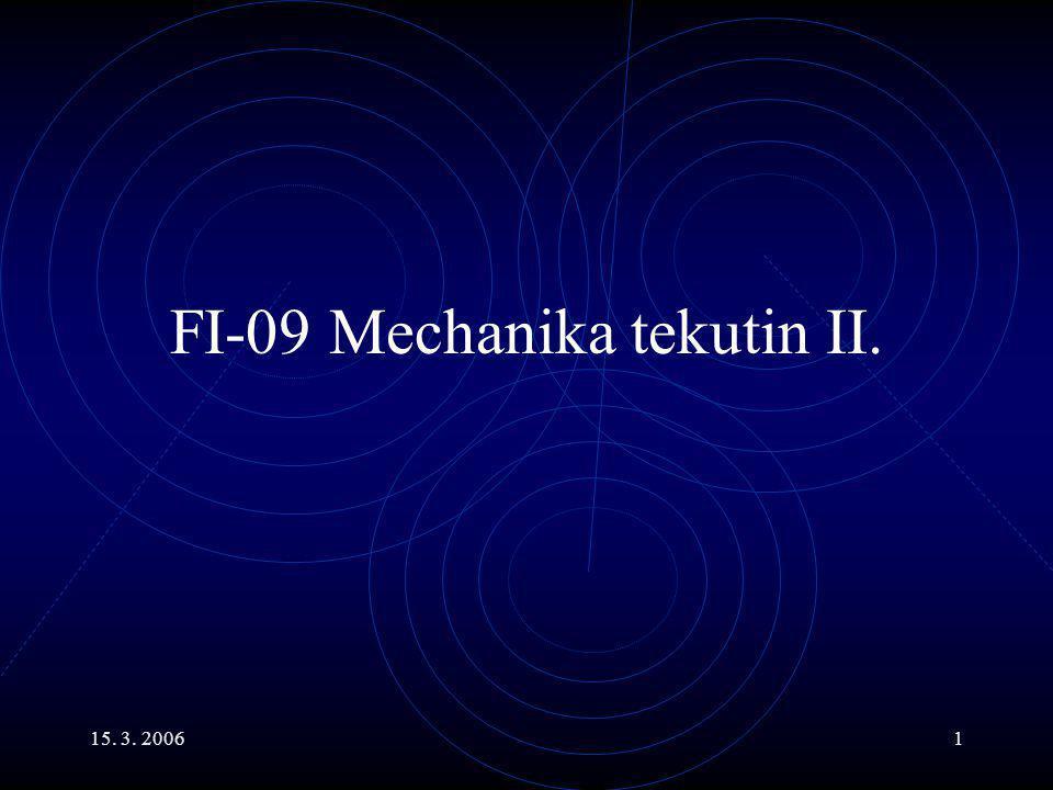 FI-09 Mechanika tekutin II.