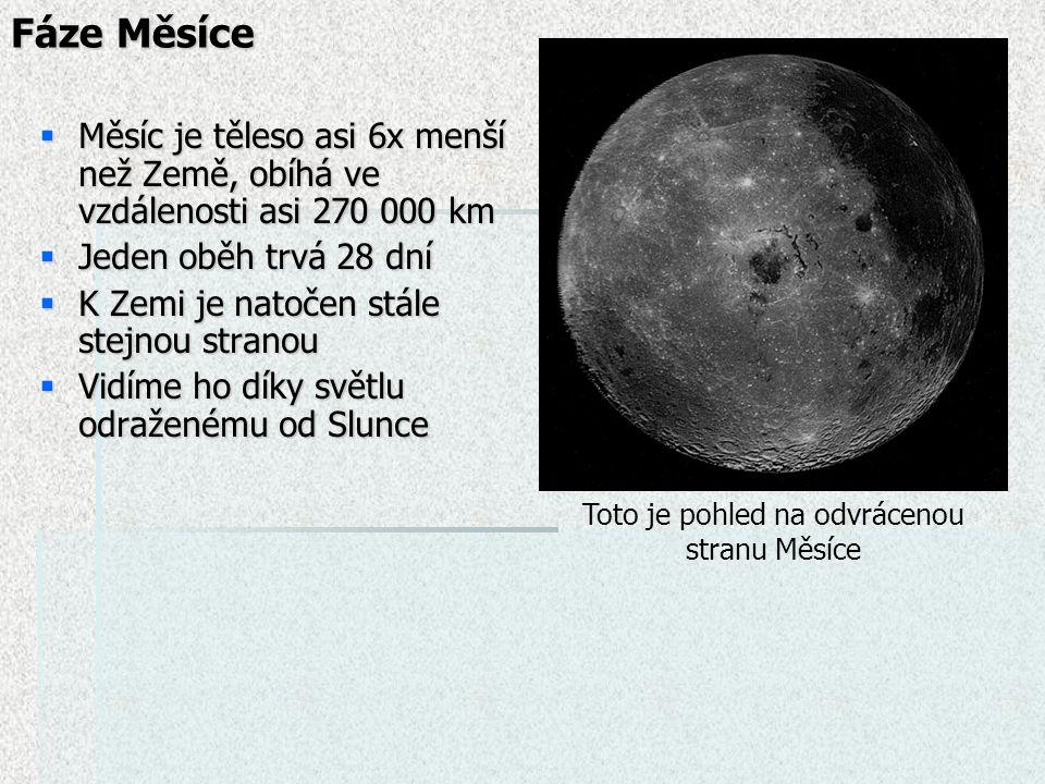 Toto je pohled na odvrácenou stranu Měsíce