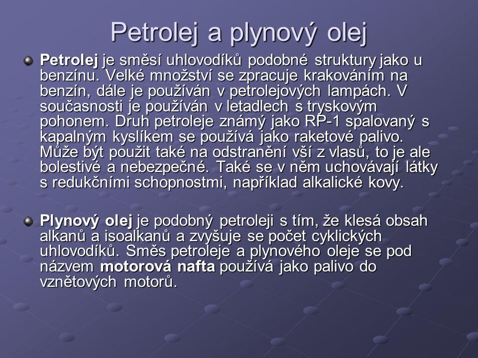 Petrolej a plynový olej