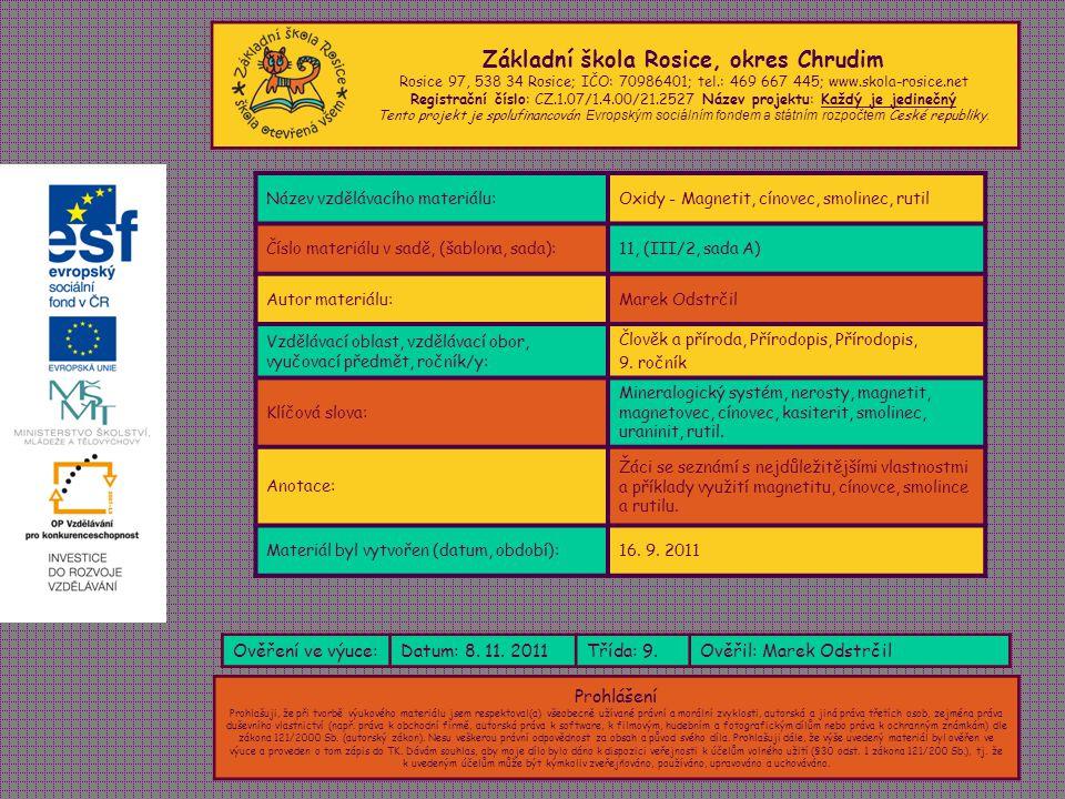 Základní škola Rosice, okres Chrudim