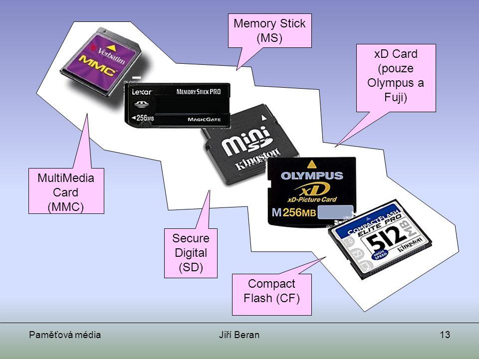 xD Card (pouze Olympus a Fuji)