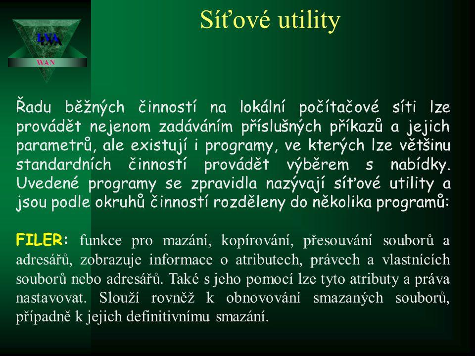 Síťové utility LVA. WAN.