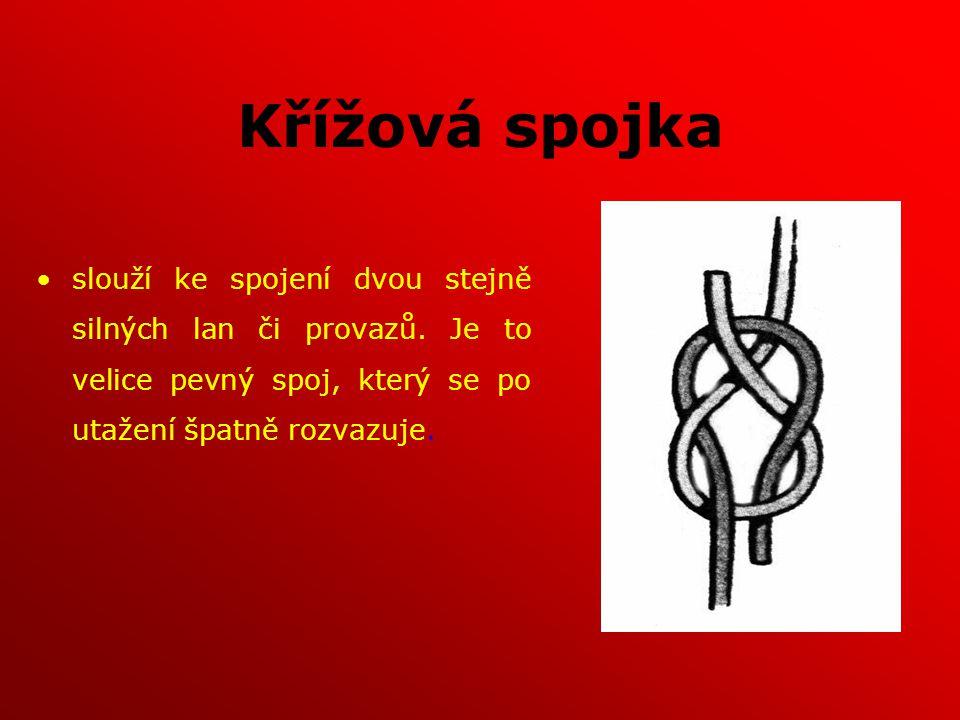 Křížová spojka slouží ke spojení dvou stejně silných lan či provazů.