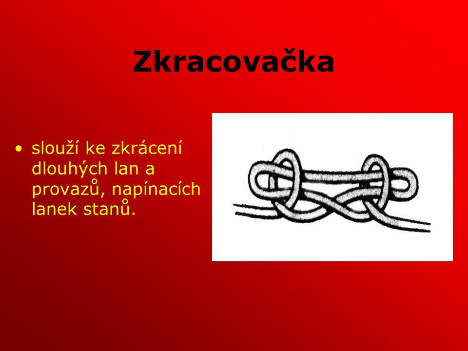 Zkracovačka slouží ke zkrácení dlouhých lan a provazů, napínacích lanek stanů.