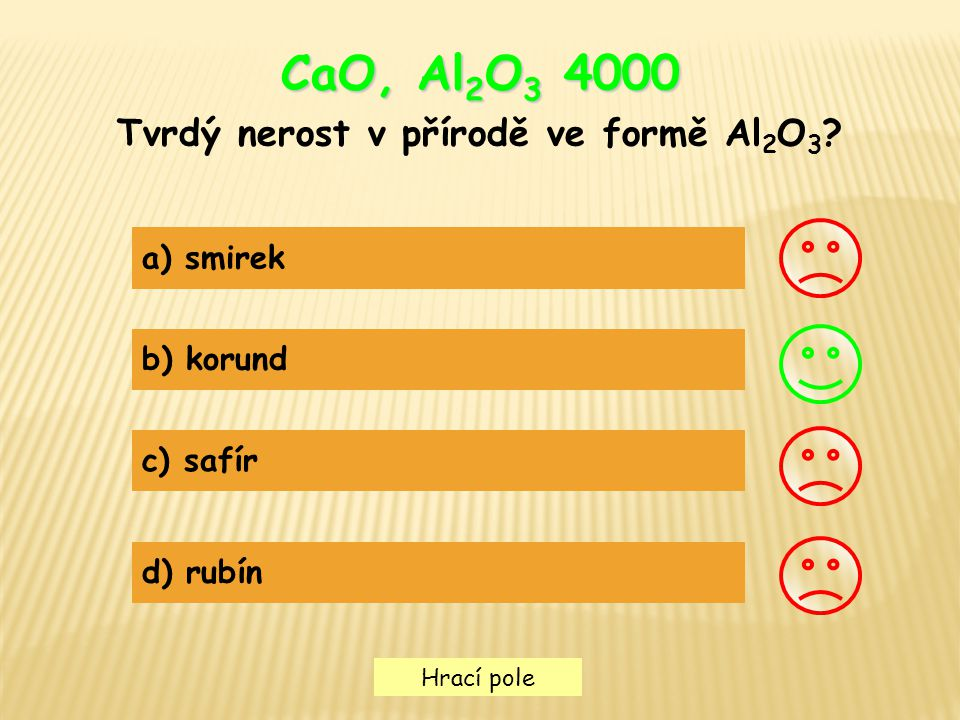 Tvrdý nerost v přírodě ve formě Al2O3