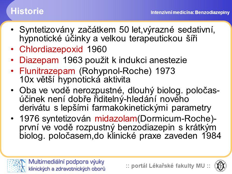 Diazepam 1963 použit k indukci anestezie