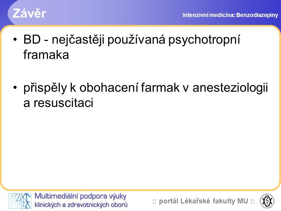 BD - nejčastěji používaná psychotropní framaka