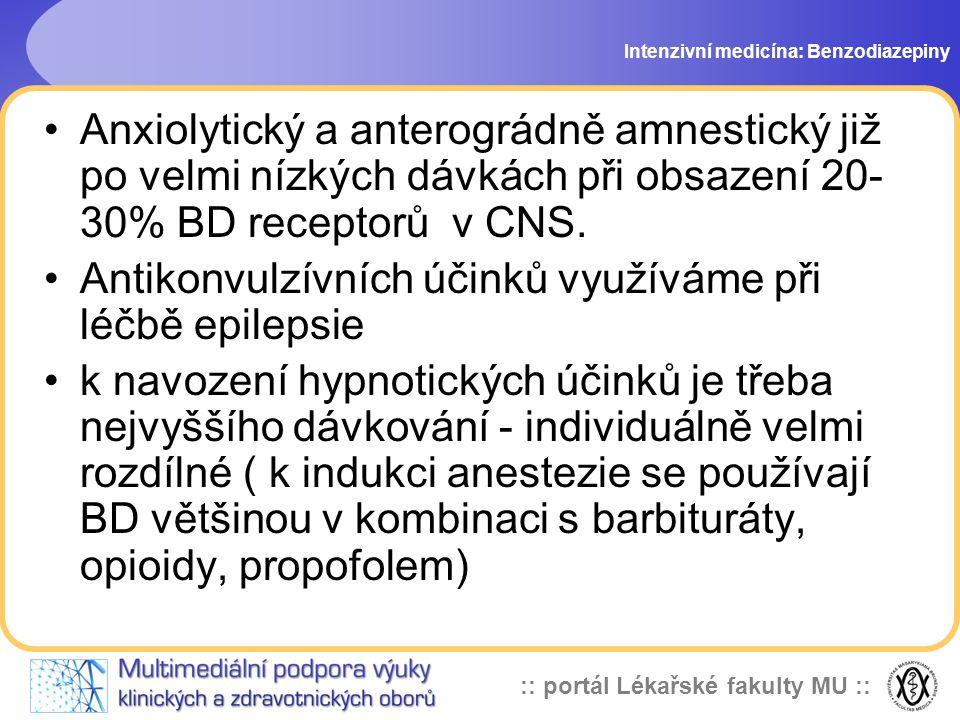 Antikonvulzívních účinků využíváme při léčbě epilepsie