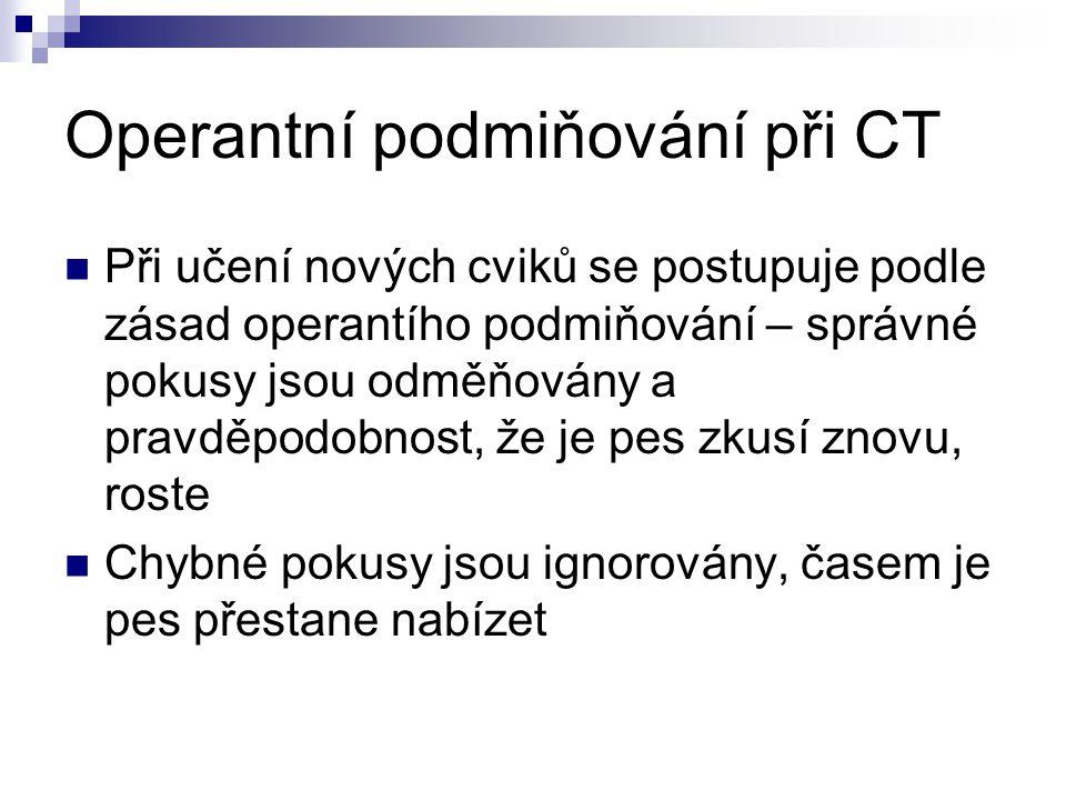 Operantní podmiňování při CT