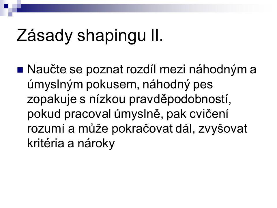Zásady shapingu II.