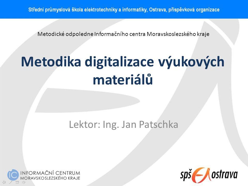 Metodika digitalizace výukových materiálů