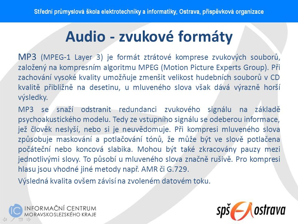 Audio - zvukové formáty