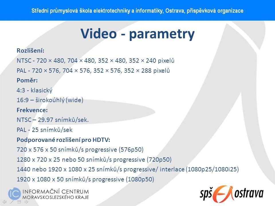 Video - parametry