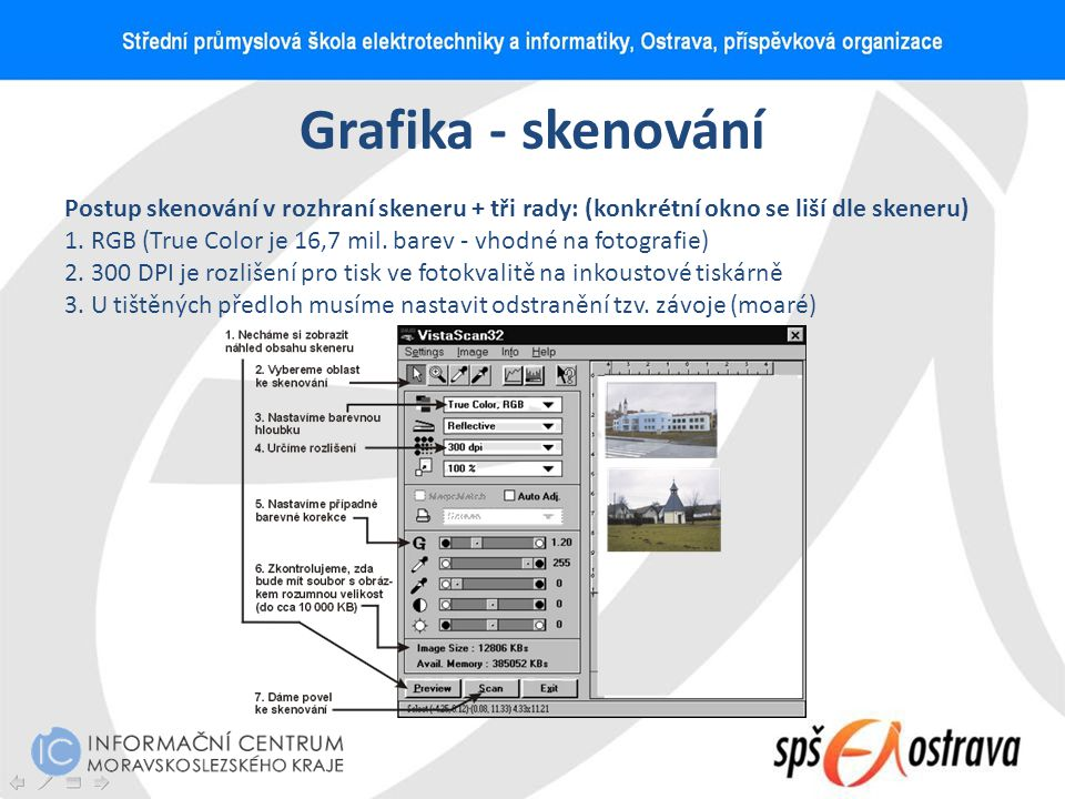 Grafika - skenování