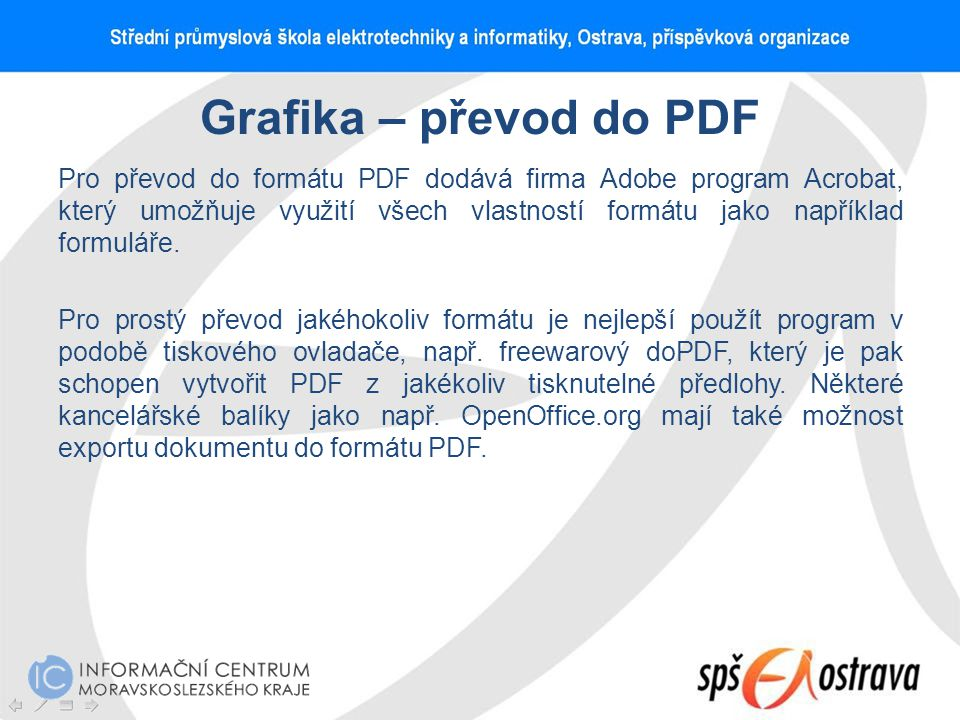 Grafika – převod do PDF