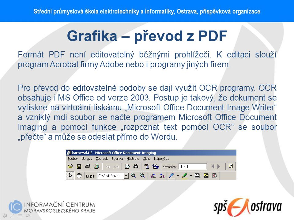 Grafika – převod z PDF