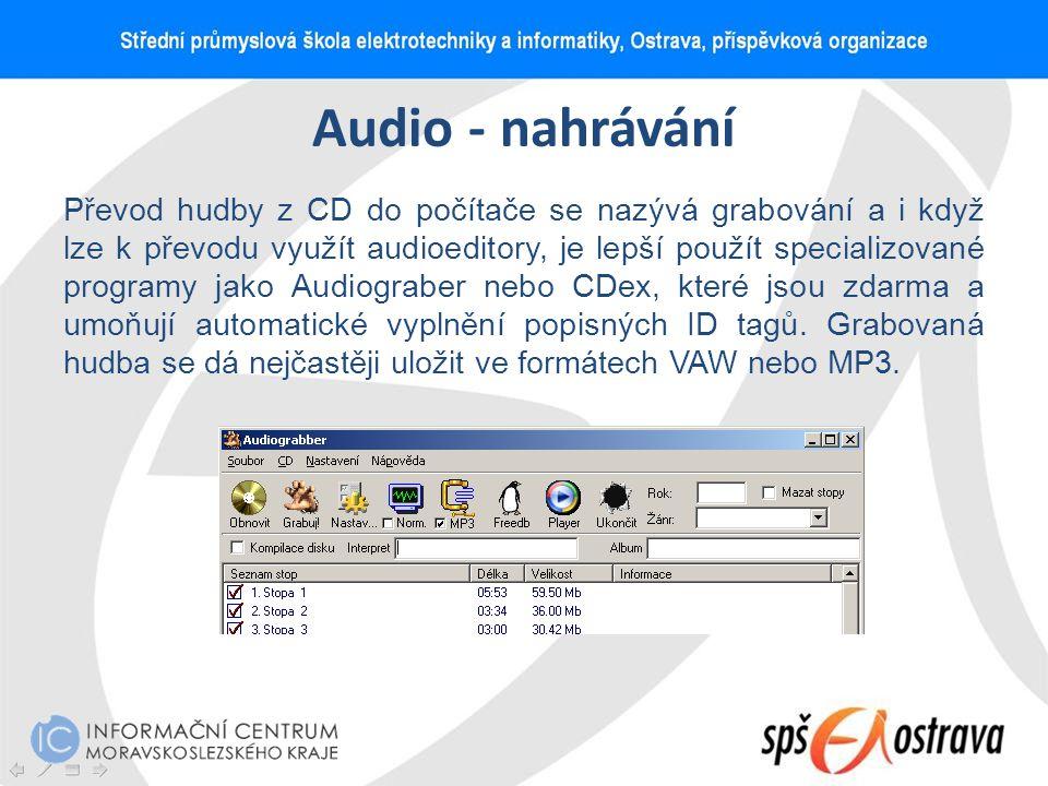 Audio - nahrávání