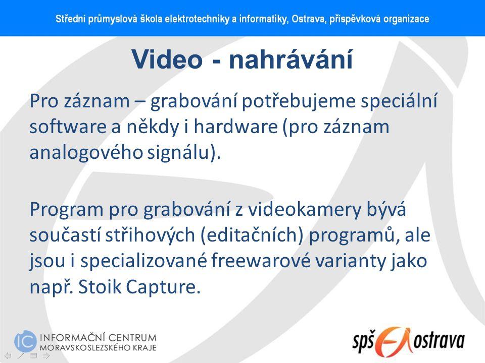Video - nahrávání