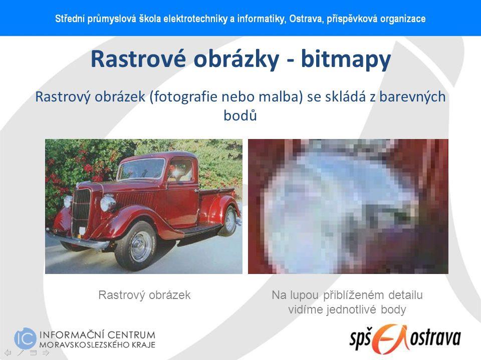 Rastrové obrázky - bitmapy