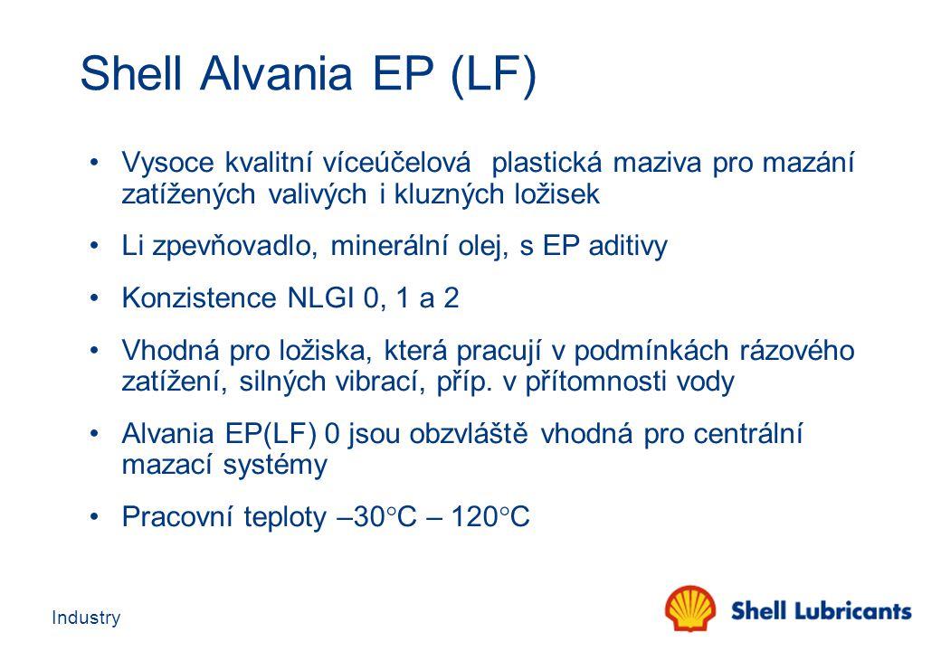 Shell Alvania EP (LF) Vysoce kvalitní víceúčelová plastická maziva pro mazání zatížených valivých i kluzných ložisek.
