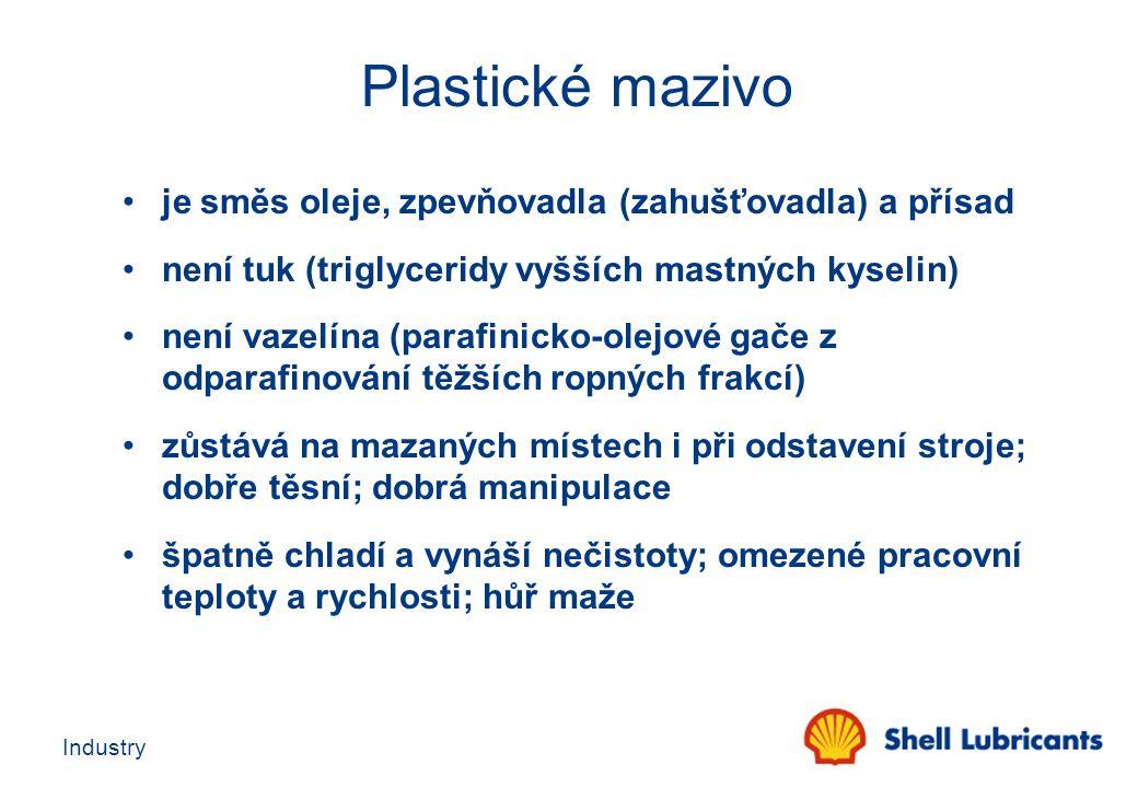 Plastické mazivo je směs oleje, zpevňovadla (zahušťovadla) a přísad