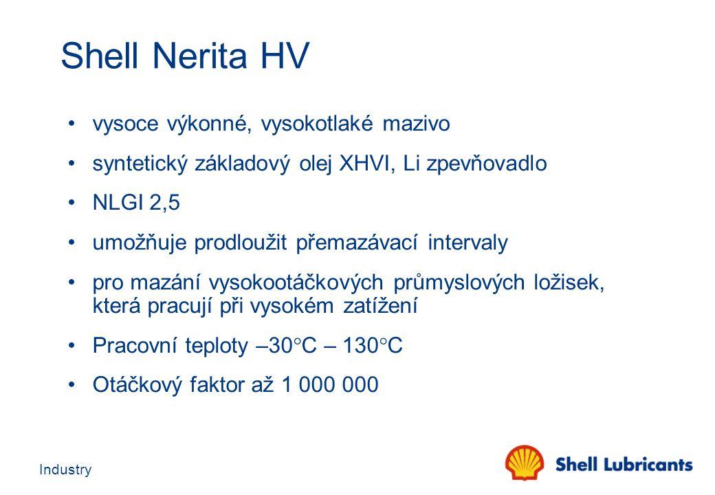 Shell Nerita HV vysoce výkonné, vysokotlaké mazivo