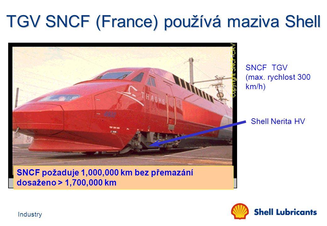 TGV SNCF (France) používá maziva Shell