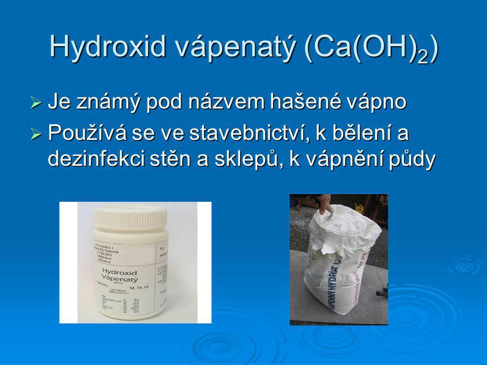 Hydroxid vápenatý (Ca(OH)2)