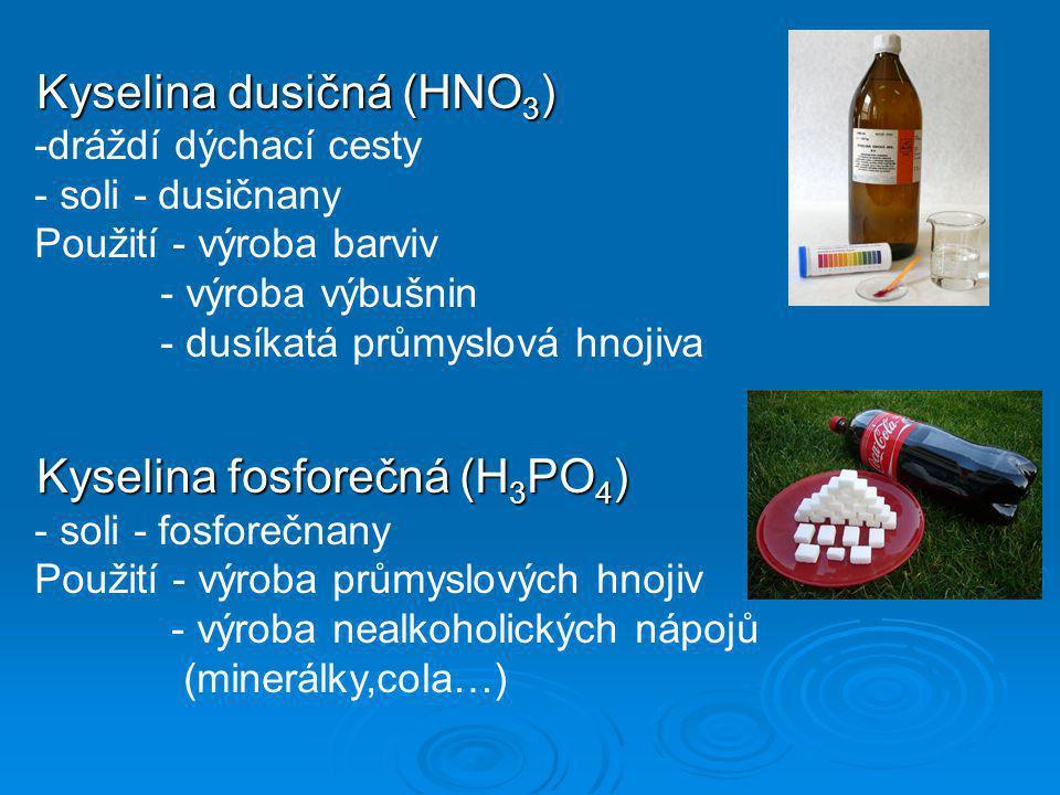 Kyselina dusičná (HNO3)