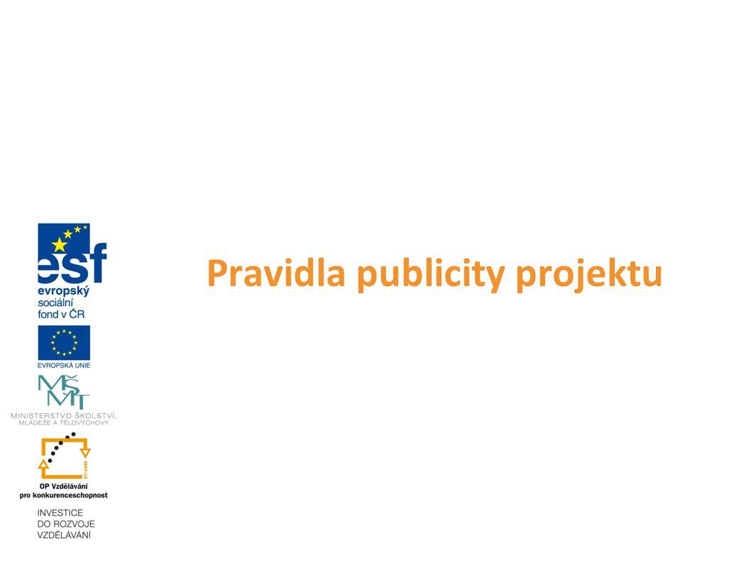 Pravidla publicity projektu