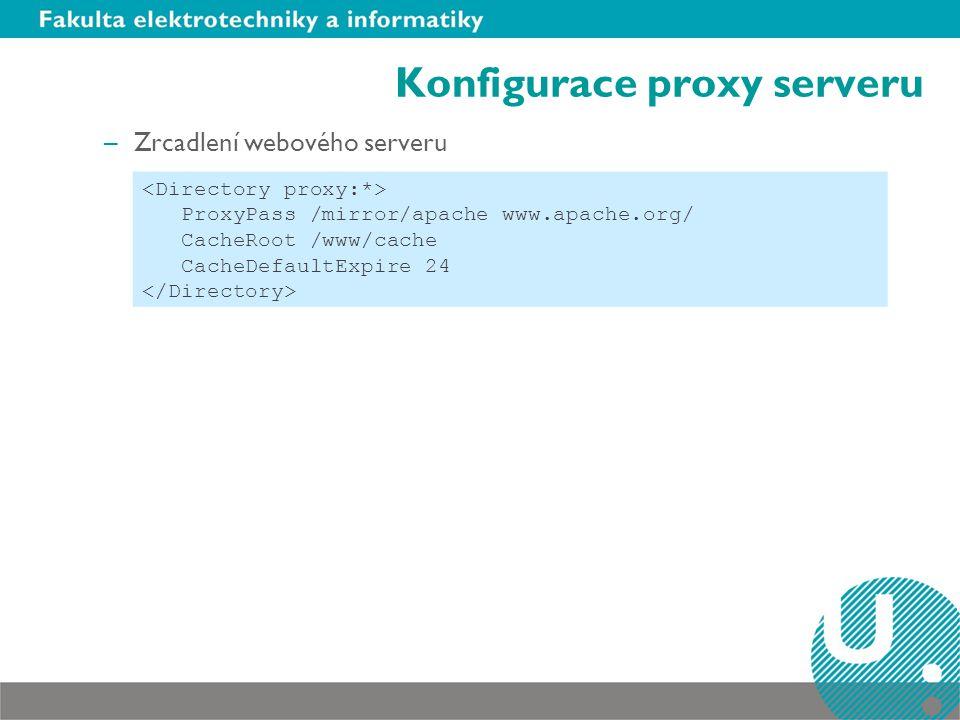 Konfigurace proxy serveru