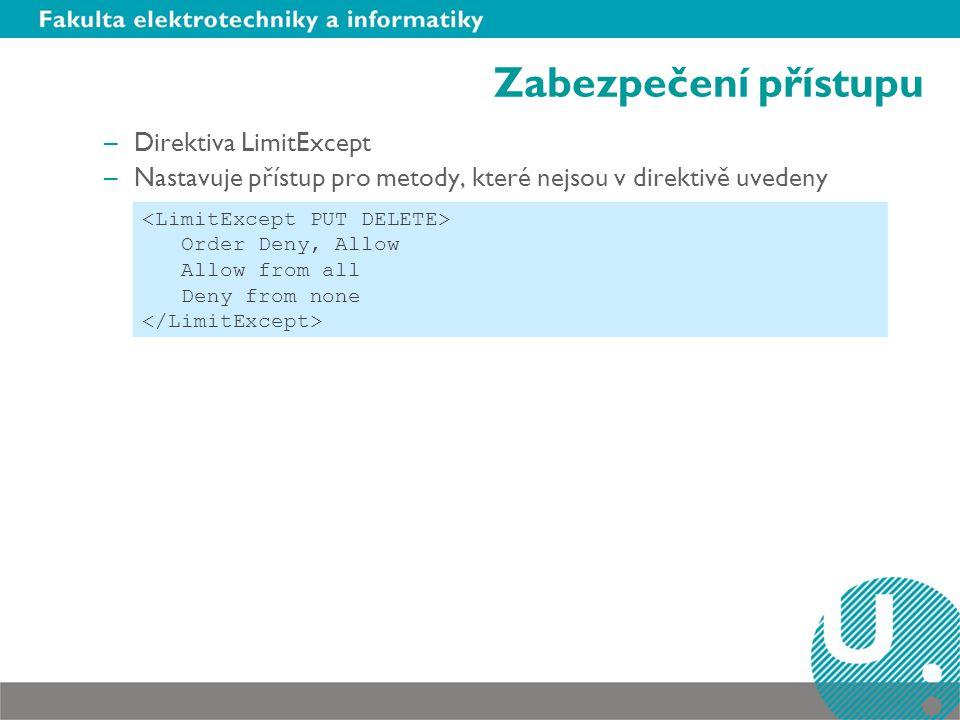 Zabezpečení přístupu Direktiva LimitExcept