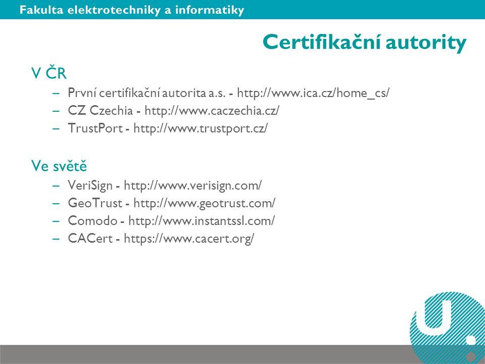 Certifikační autority