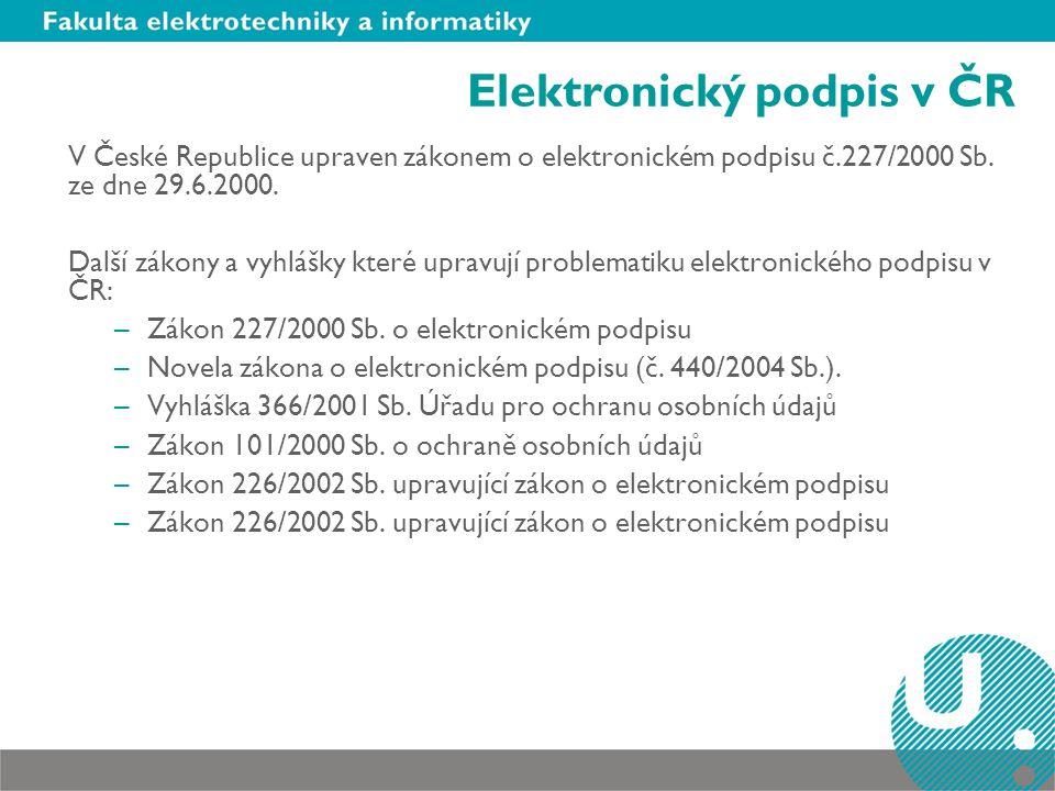 Elektronický podpis v ČR