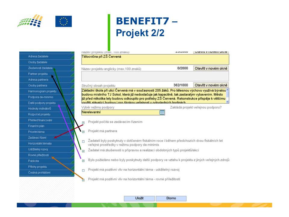 BENEFIT7 – Projekt 2/2