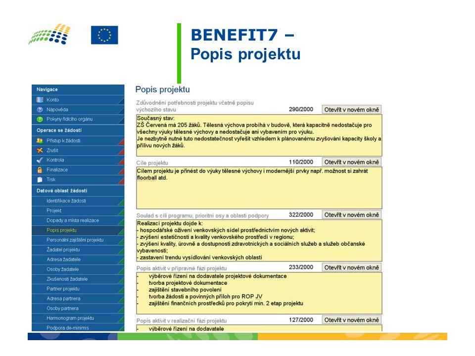 BENEFIT7 – Popis projektu
