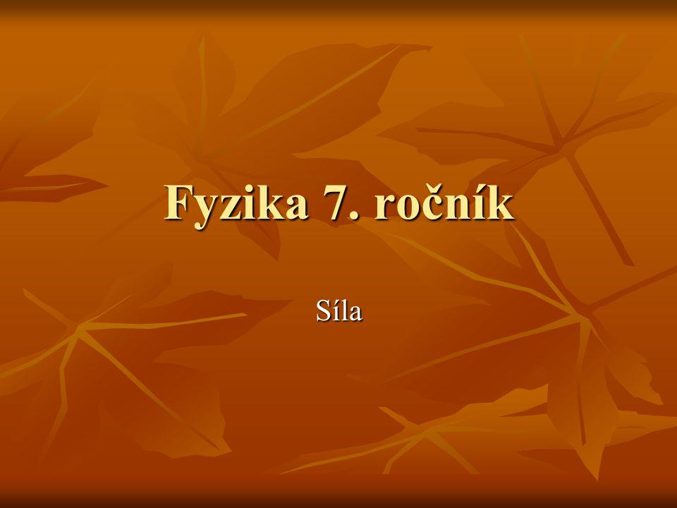 Fyzika 7. ročník Síla