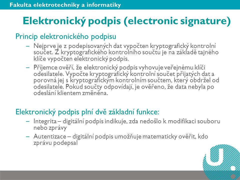 Elektronický podpis (electronic signature)