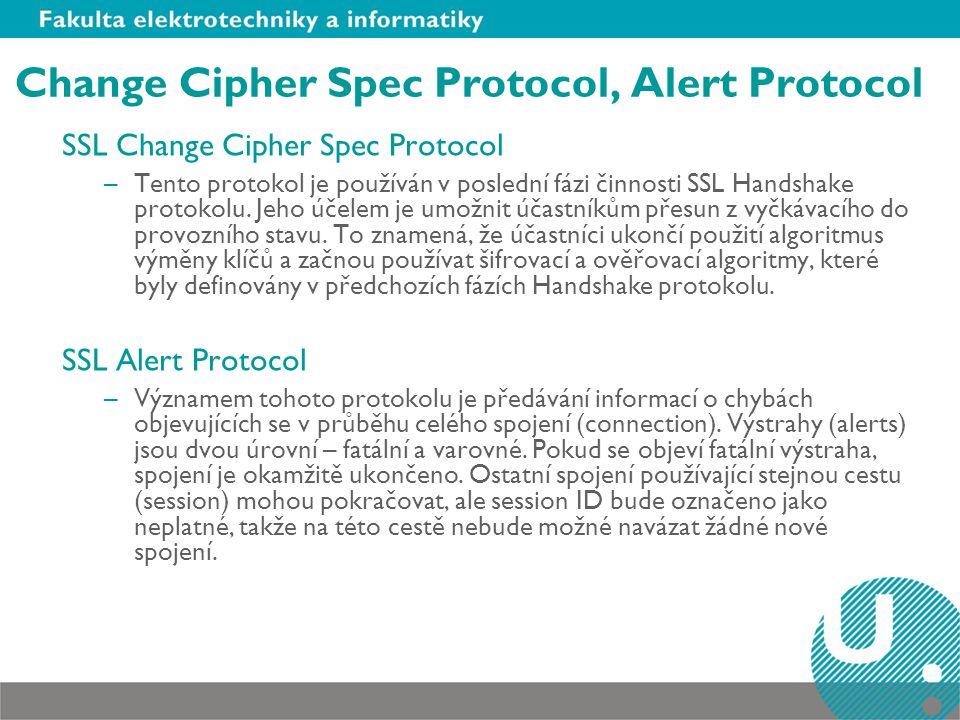 Change Cipher Spec Protocol, Alert Protocol
