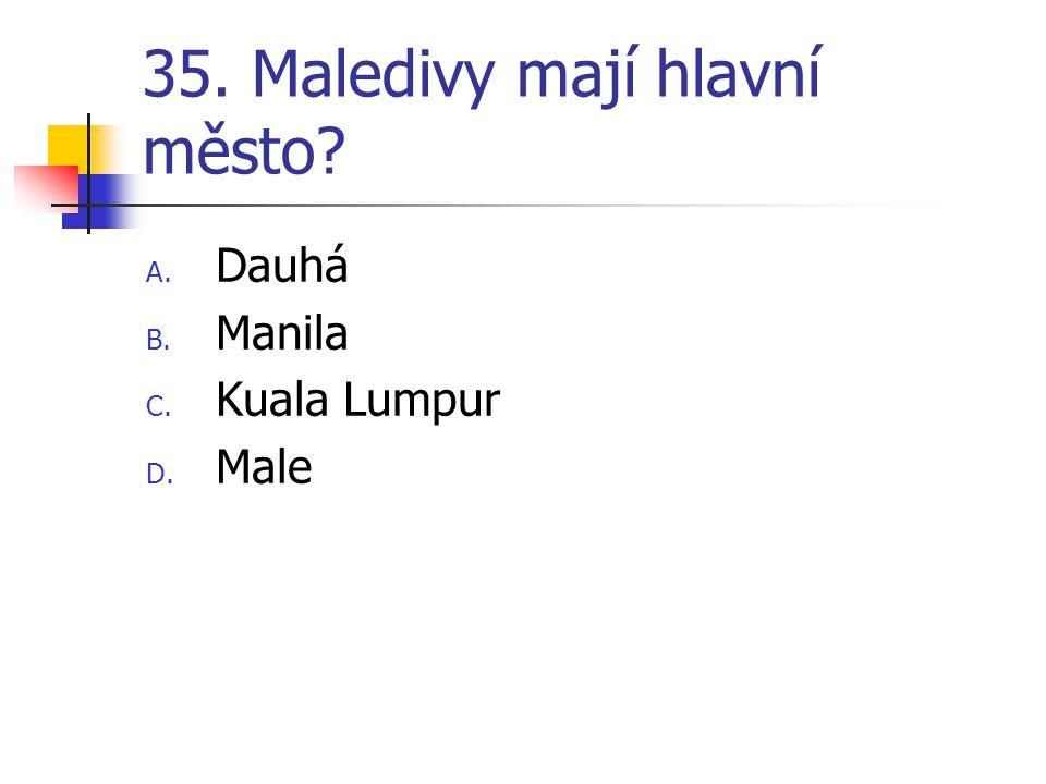 35. Maledivy mají hlavní město