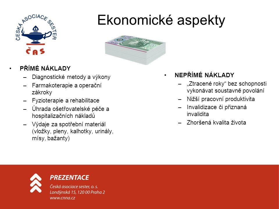 Ekonomické aspekty PŘÍMÉ NÁKLADY NEPŘÍMÉ NÁKLADY
