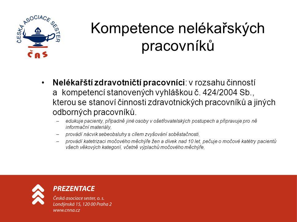 Kompetence nelékařských pracovníků