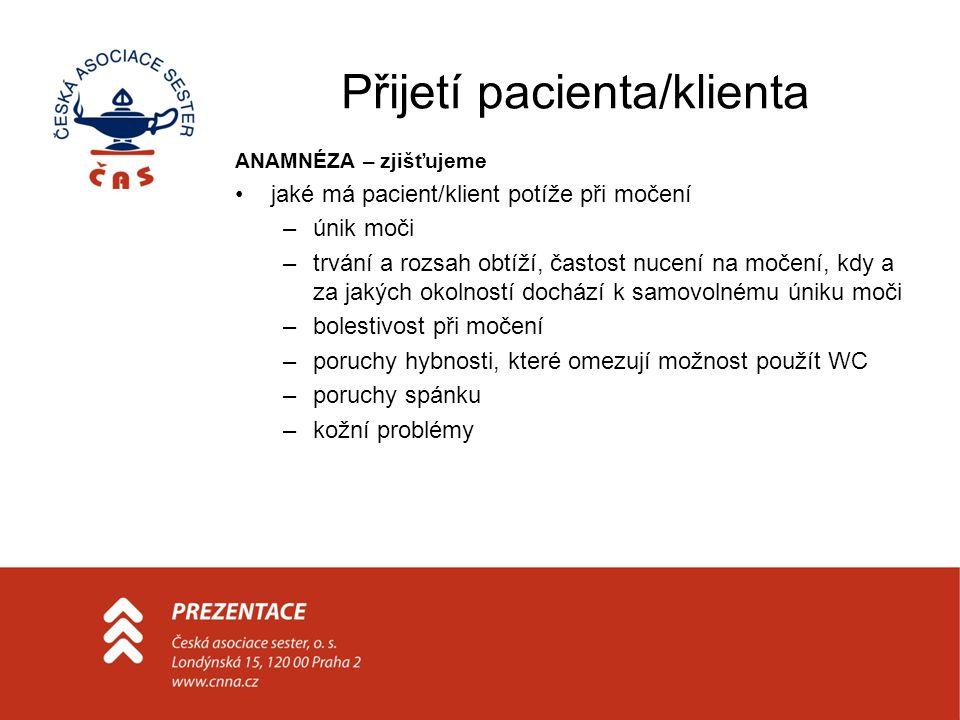 Přijetí pacienta/klienta
