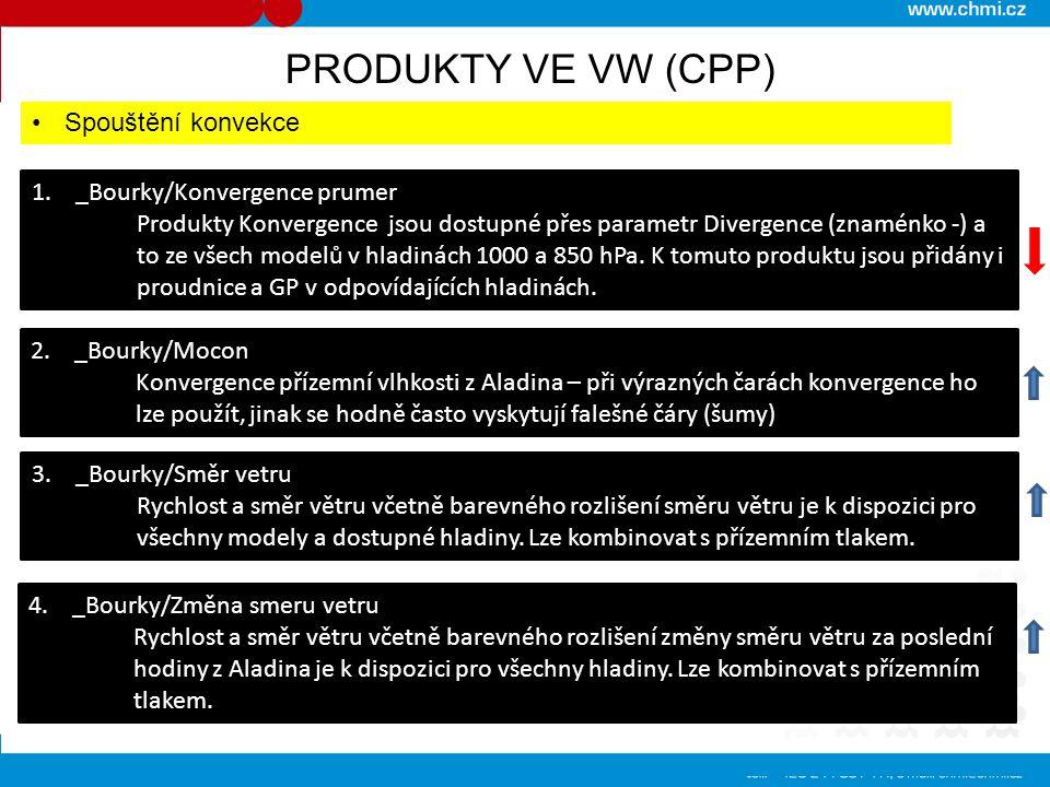 PRODUKTY VE VW (CPP) Spouštění konvekce 1. _Bourky/Konvergence prumer