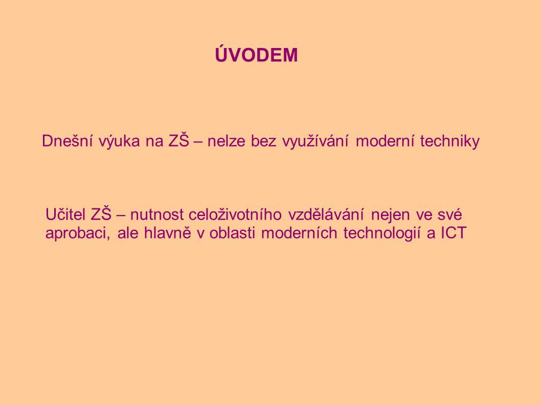 Dnešní výuka na ZŠ – nelze bez využívání moderní techniky