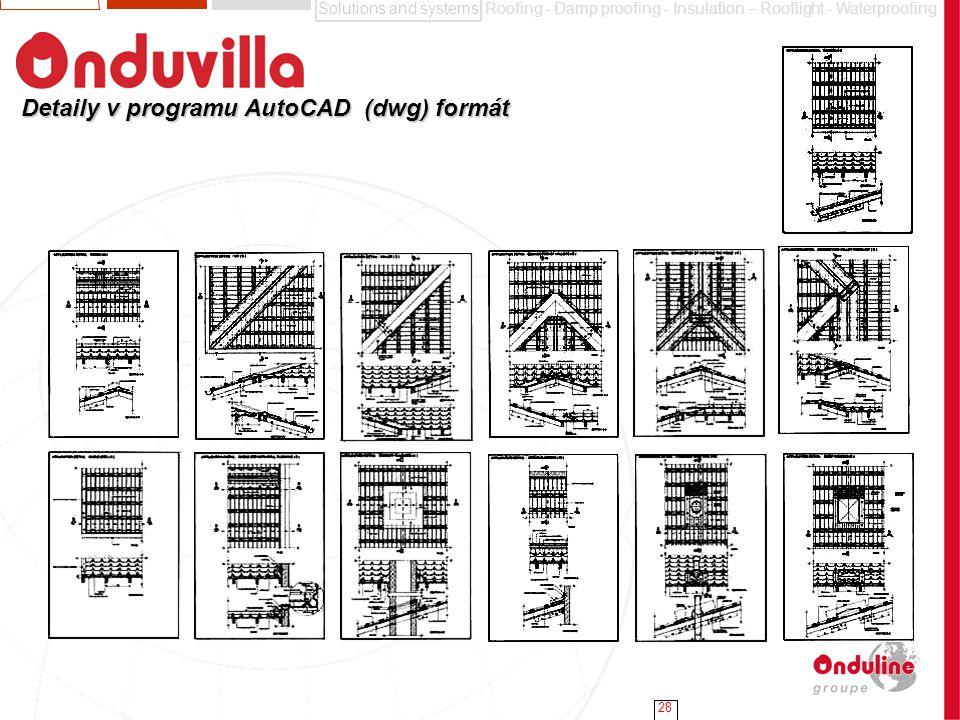 Detaily v programu AutoCAD (dwg) formát