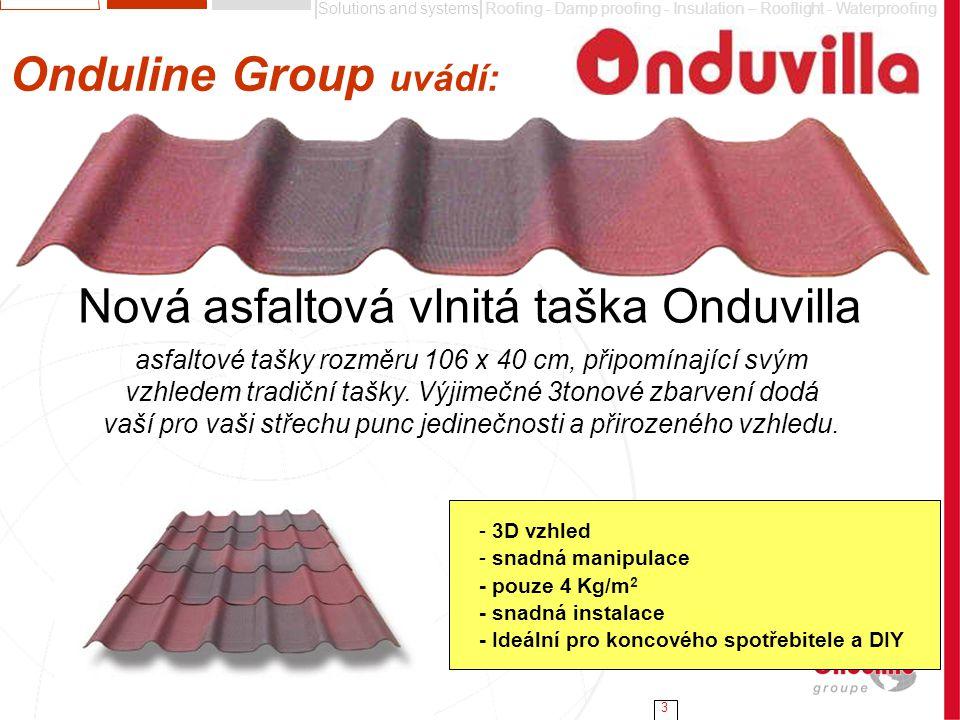 Nová asfaltová vlnitá taška Onduvilla