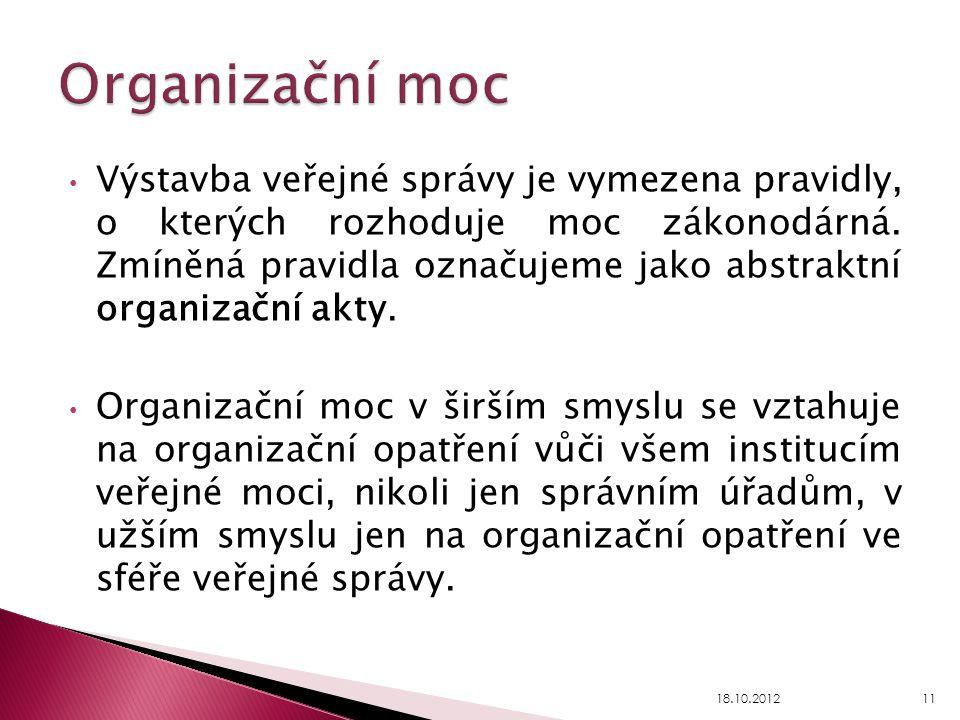 Organizační moc