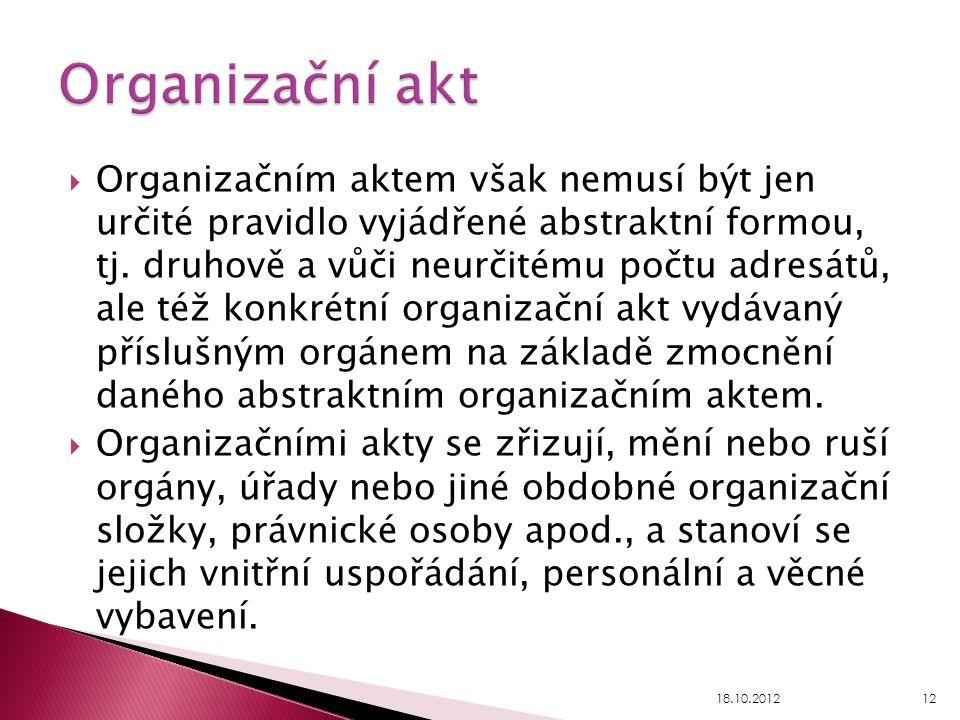Organizační akt