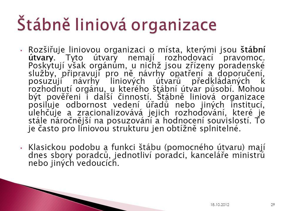 Štábně liniová organizace